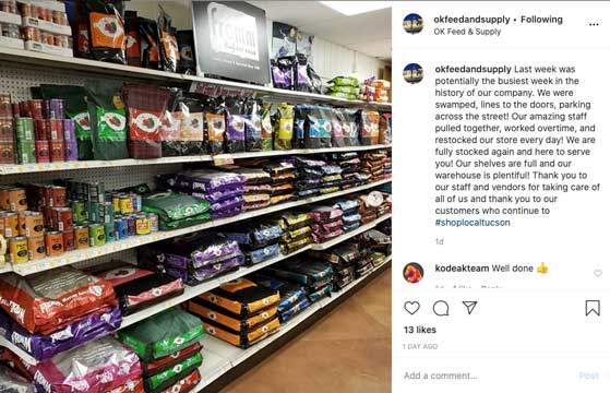 ok feed instagram comment ecommerce store